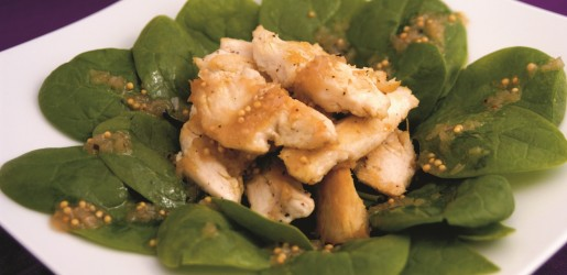Spinach & Chicken Salad with Shallot Dressing - DeLuca's